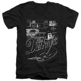 The Darkness Pedal Board Adult V-Neck T-Shirt Black