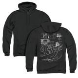 The Darkness Pedal Board (Back Print) Adult Zip Hoodie Sweatshirt Black