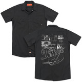 The Darkness Pedal Board (Back Print) Adult Work Shirt Black