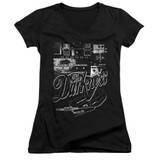 The Darkness Pedal Board Junior Women's V-Neck T-Shirt Black