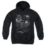 The Darkness Pedal Board Youth Pullover Hoodie Sweatshirt Black