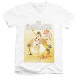 The Darkness Aloha Adult V-Neck T-Shirt White