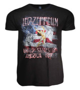 Led Zeppelin USA 77 with Flag Classic T-Shirt