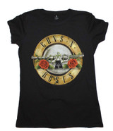 Guns N Roses Distressed Bullet Junior Women's Classic T-Shirt