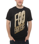 Foo Fighters Slanted Logo Slim Fit Classic T-Shirt