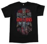 Guns N Roses Skeleton Cross Classic T-Shirt