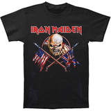 Iron Maiden Crossed Flags Classic T-Shirt