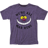 Alice in Wonderland All Mad Here Fitted Jersey Classic T-Shirt