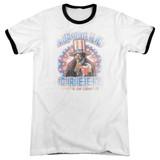 Rocky Apollo Creed Adult Ringer T-Shirt White/Black