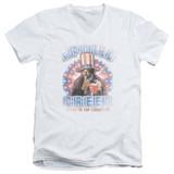 Rocky Apollo Creed Adult V-Neck T-Shirt White