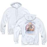 Rocky Apollo Creed (Back Print) Adult Zipper Hoodie Sweatshirt White