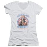 Rocky Apollo Creed Junior Women's V-Neck T-Shirt white
