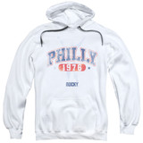 Mgm/Rocky Philly 1976 Adult Pullover Hoodie Sweatshirt White