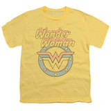 Wonder Woman Faded Wonder Youth Original T-Shirt Banana