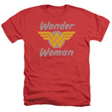 Wonder Woman Wonder Wings Adult Heather Original T-Shirt Red