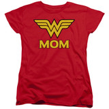 Wonder Woman Wonder Mom Women's Original T-Shirt Red
