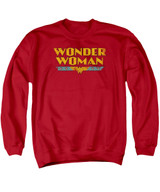 Wonder Woman Logo Adult Crewneck Sweatshirt Red