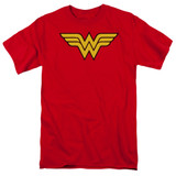 Wonder Woman Logo Adult 18/1 Original T-Shirt Red