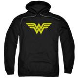 Wonder Woman Logo Adult Pullover Hoodie Sweatshirt Black