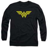 Wonder Woman Logo Adult Long Sleeve Original T-Shirt Black