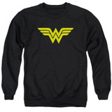 Wonder Woman Logo Adult Crewneck Sweatshirt Black