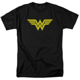Wonder Woman Logo Adult 18/1 Original T-Shirt Black