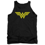 Wonder Woman Logo Adult Tank Top Original T-Shirt Black
