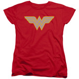 Wonder Woman WW Logo Women's Original T-Shirt Red