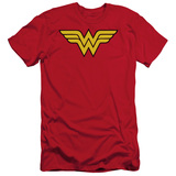 Wonder Woman Logo Adult 30/1 Original T-Shirt Red