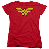 Wonder Woman Logo Women's Original T-Shirt Red