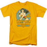 Wonder Woman Adult 18/1 Original T-Shirt Gold