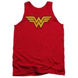 Wonder Woman Logo Dist Adult Tank Top Original T-Shirt Red