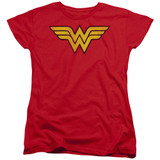 Wonder Woman Logo Dist Women's Original T-Shirt Red