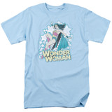 Wonder Woman I'm Wonder Woman Adult 18/1 Original T-Shirt Light Blue
