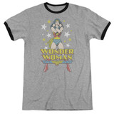 Wonder Woman A Wonder Adult Ringer Original T-Shirt Heather/Black