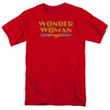 Wonder Woman Logo Adult 18/1 Original Classic T-Shirt Red