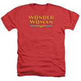 Wonder Woman Logo Adult Heather Original Classic T-Shirt Red