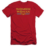 Wonder Woman Logo Adult 30/1 Original Classic T-Shirt Red