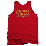Wonder Woman Logo Adult Tank Top Original Classic T-Shirt Red