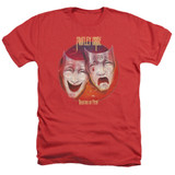 Motley Crue Theatre Of Pain Adult Heather Classic T-Shirt Red