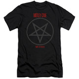 Motley Crue Shout At The Devil Adult 30/1 Classic T-Shirt Black