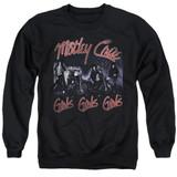 Motley Crue Girls Adult Crewneck Sweatshirt Black