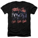 Motley Crue Girls Adult Heather Classic T-Shirt Black