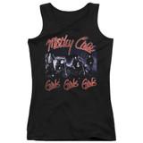 Motley Crue Girls Junior Women's Tank Top Classic T-Shirt Black