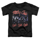 Motley Crue Girls Toddler Classic T-Shirt Black
