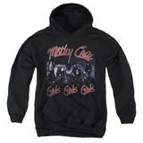 Motley Crue Girls Youth Pullover Hoodie Sweatshirt Black