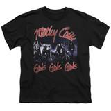 Motley Crue Girls Youth Classic T-Shirt Black