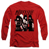 Motley Crue Group Adult Long Sleeve Classic T-Shirt Red