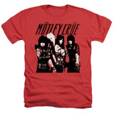 Motley Crue Group Adult Heather Classic T-Shirt Red