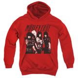 Motley Crue Group Youth Pullover Hoodie Sweatshirt Red